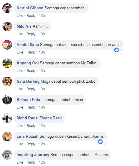 Gambar Tunku Tun Aminah Melawat Zaibo Kongsi Lakonan